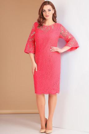 Купить Платье Ксения Стиль 1549 розовый, Вечерние платья, 1549, розовый, п/э 71%, вискоза 23%, спандекс 6%, Мультисезон