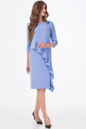 Купить Платье Erika Style 670 голубой, Платья, 670, голубой, вискоза 72%, ПЭ 25%, спандекс 3%, Мультисезон