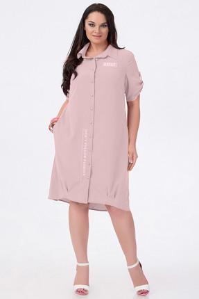 Купить Платье Erika Style 588-10 пудра, Платья, 588-10, пудра, Хлопок 100%, Лето