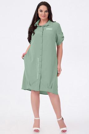 Купить Платье Erika Style 588-11 серо-зеленый, Платья, 588-11, серо-зеленый, Хлопок 100%, Лето