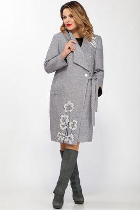Купить Пальто LaKona 1130 серый, Пальто, 1130, серый, Шерсть 37%+ПЭ 38%+Акрил 25%, Мультисезон