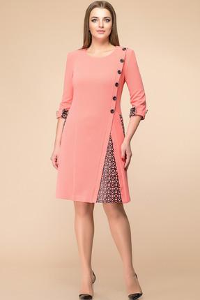 Купить Платье Romanovich style 1-1260 коралл, Повседневные платья, 1-1260, коралл, 63% вискоза, 32% нейлон, 5% спандекс, Мультисезон