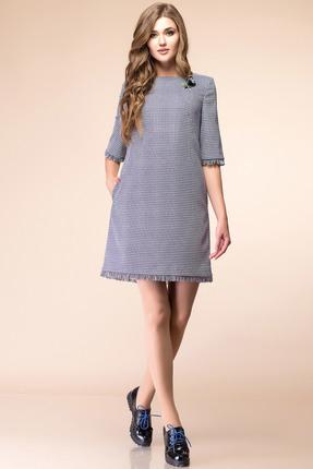 Купить Платье Romanovich style 1-1692 серый, Платья, 1-1692, серый, костюмно-плательная ткань (68% ПЭ, 28% вискоза, 4% спандекс), Мультисезон