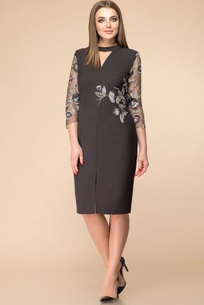 Купить Платье Romanovich style 1-1677 черный, Платья, 1-1677, черный, костюмно-плательная ткань (68% ПЭ, 28% вискоза, 4% спандекс), Мультисезон