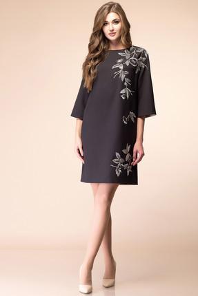 Купить Платье Romanovich style 1-1676 черный, Платья, 1-1676, черный, костюмно-плательная ткань (68% ПЭ, 28% вискоза, 4% спандекс), Мультисезон
