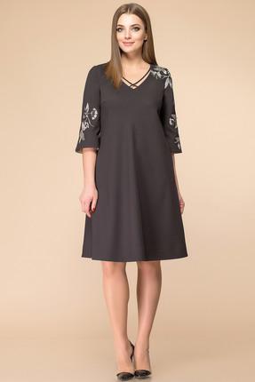 Купить Платье Romanovich style 1-1674 черный, Платья, 1-1674, черный, костюмно-плательная ткань (68% ПЭ, 28% вискоза, 4% спандекс), Мультисезон